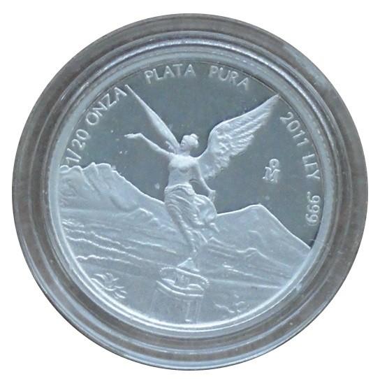 Mexico 1/20 Oz Silber Libertad - Siegesgöttin 2011 Polierte Platte
