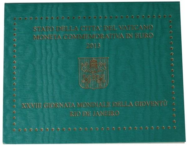 Vatikan 2 Euro Gedenkmünze Weltjugendtag Rio de Janeiro 2013 im Blister