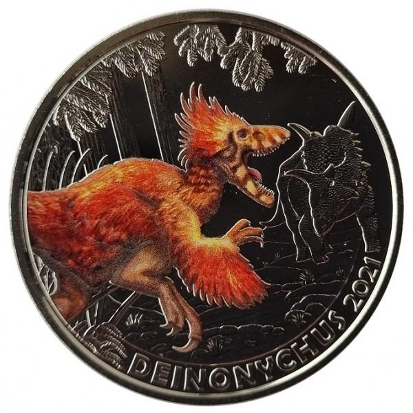 3 Euro Deinonychus 2021 - Dino-Taler-Serie aus Österreich Dinosaurier