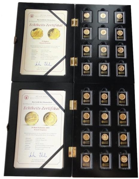 Das Gold der Deutschen - 24 Gold Nachprägungen im Etui mit Zertifikate