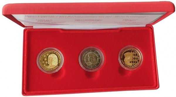 Monaco Premium - Satz 2 Euro Lucien + 2 x 1/10 Oz Goldmedaille 2012 im Etui