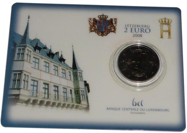 Luxemburg 2 Euro Gedenkmünze Chateau de Berg 2008 Coincard
