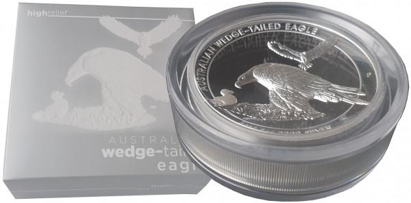 Australien 5 Oz Silber Keilschwanz - Adler (Wedge Tailed Eagle) High Relief 2018 Polierte Platte