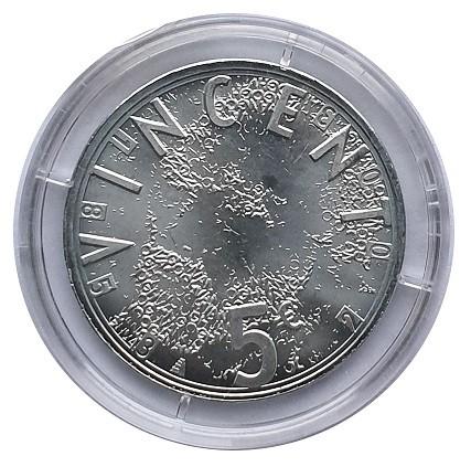 Niederlande 5 Euro Silber Vincent van Gogh 2003 Stempelglanz in Münzkapsel