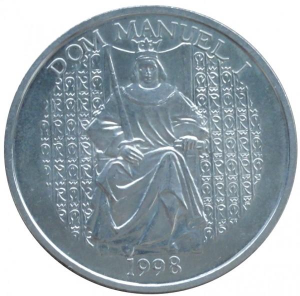 Portugal 1000 Escudos Silbermünze Dom Manuel I 1998