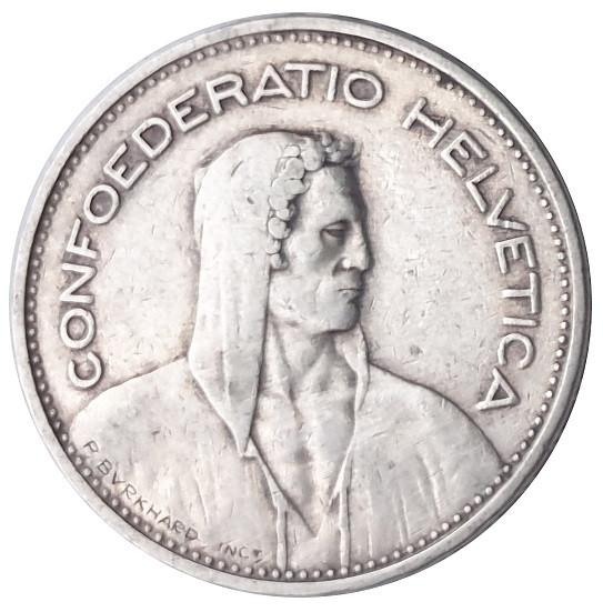 Schweiz 5 Franken Silbermünze 15 gr 835/1000 Silber