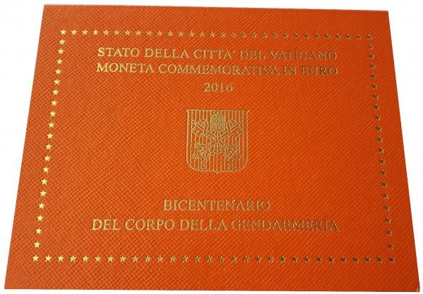 Vatikan 2 Euro Gedenkmünze Vatikanisches Gendarmerie Korps 2016 im Blister