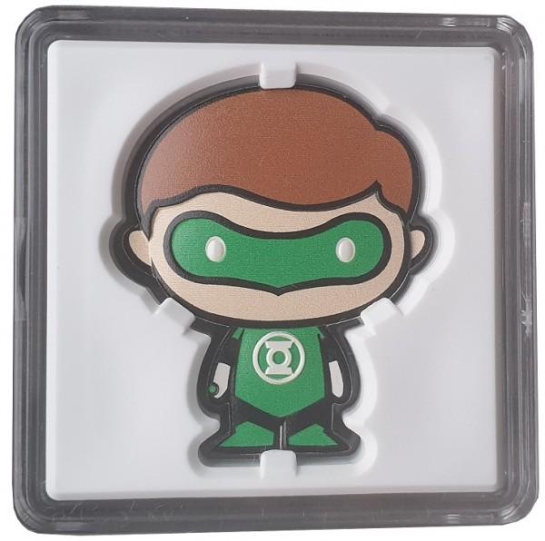 1 Oz Silber Chibi Green Lantern - Niue 2020 Polierte Platte im Etui