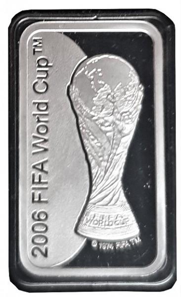 10 gr Silberbarren FIFA Fussball WM 2006 im Etui