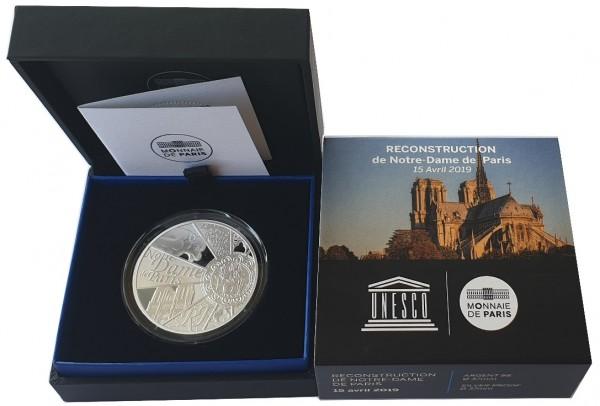 10 Euro Silber Notre Dame - Paris 2019 PP Frankreich - Wiederaufbau Kathedrale
