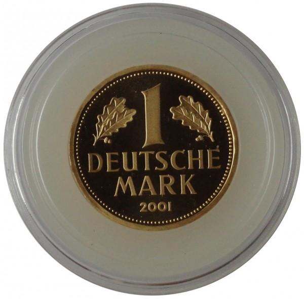 Deutschland Goldmünze 1 DM Goldmark 2001 Prägebuchstabe G Karlsruhe