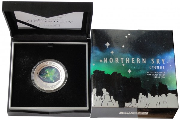 Australien 5 Dollars 1 Oz Silber Nördlicher Sternenhimmel Schwan 2016 Polierte Platte