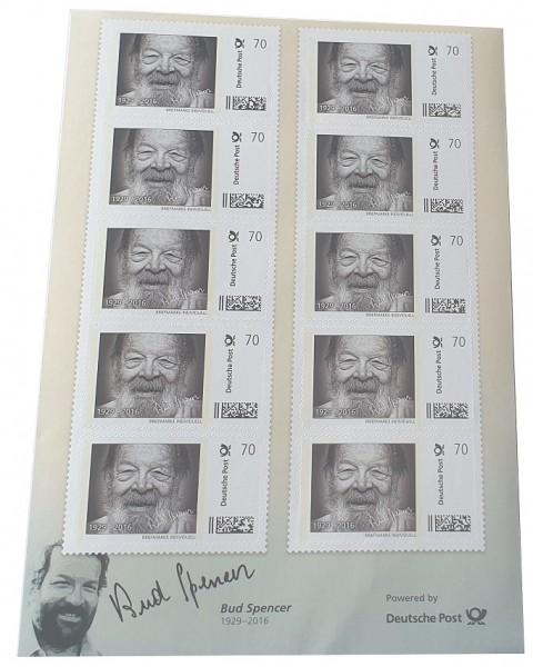 Bud Spencer Briefmarken 10 x 70 Cent Briefmarkenbogen Limited Edition nur 10.000 Stück !