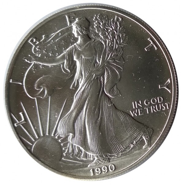 USA 1 Dollar 1 Oz Silber American Eagle 1990