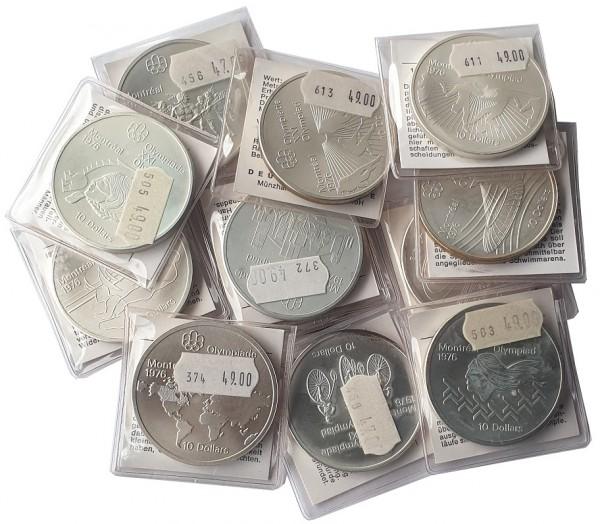 Canada 24 Silbermünzen Olympiade Montreal 1976