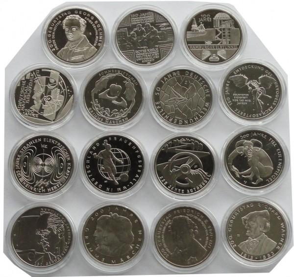 10 Euro Gedenkmünzen Deutschland Stempelglanz - Motivauswahl