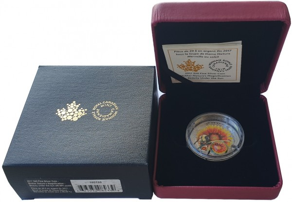 1 Oz Silber Schönheit auf Erden Biene 2017 Polierte Platte - Kanada 20 Dollars Silber