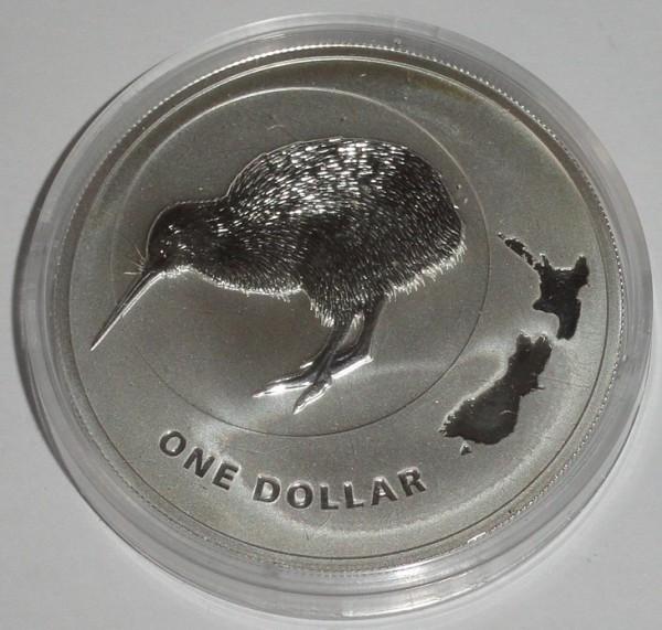 Neuseeland 1 Oz Silber Kiwi 2009 St Münzkapsel