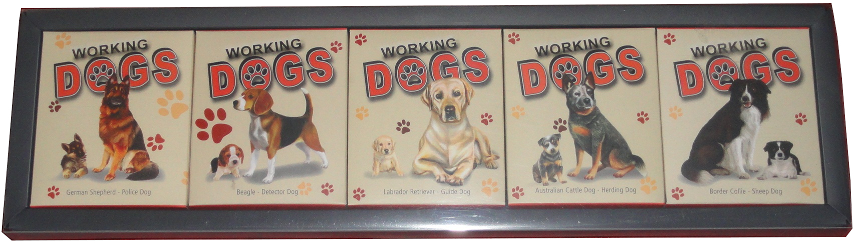 Tuvalu-5-x-1-Oz-Silber-Working-Dogs