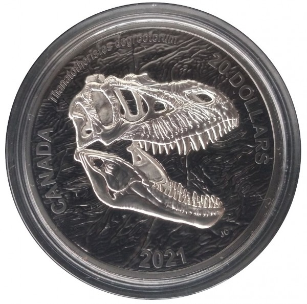 Canada 20 Dollars 1 Oz Silber Reaper of Death (Schnitter des Todes) 2021 Rhodium Plated