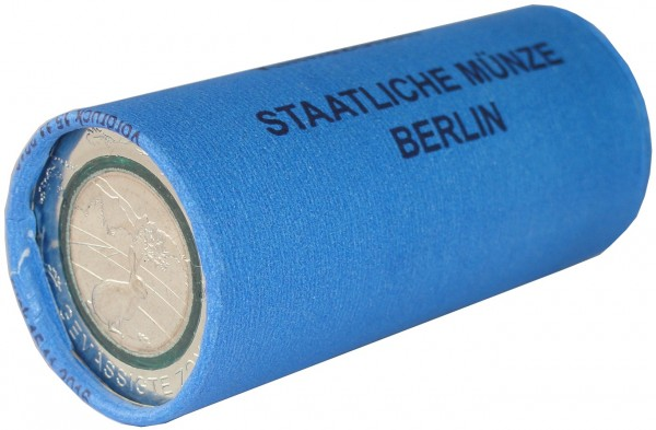 BRD: 25 x 5 Euro Bimetall Gemäßigte Zone Münzrolle A Berlin