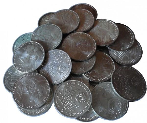 BRD: 10 DM Silber Gedenkmünzen Olympiade 1972