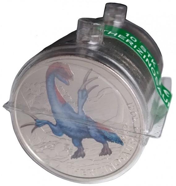 10 x 3 Euro 2021 Therizinosaurus - Dino-Taler-Serie aus Österreich Dinosaurier