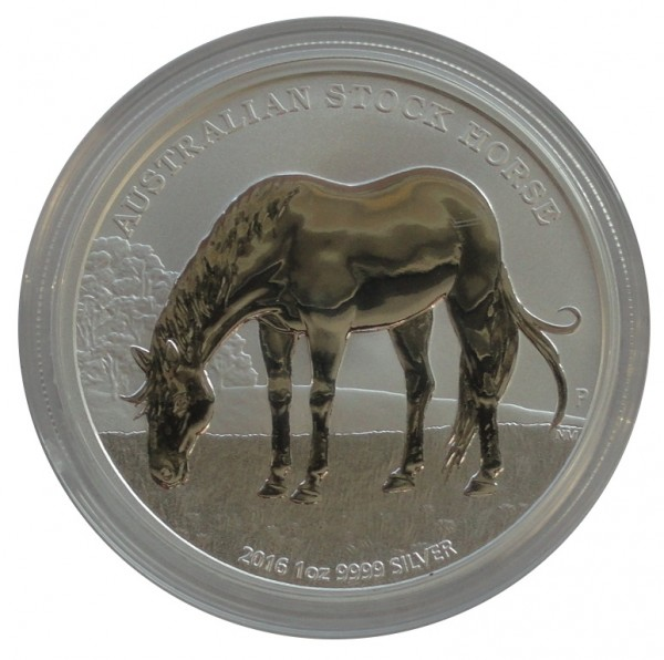 Australien 1 Oz Silber Stock Horse Pferd 2016 mit Zertifikat