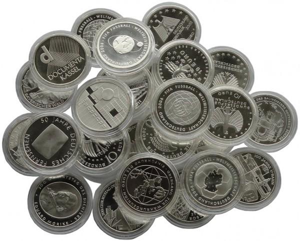 10 Euro Silber Gedenkmünzen Deutschland ( 2002 - 2010 ) 18 gr 925/1000 Silber Münzkapsel