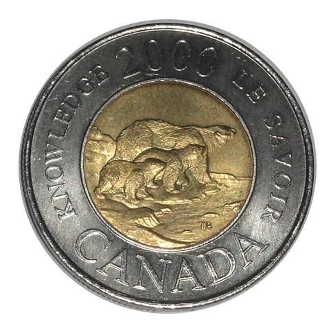 Canada 2 Dollars 2000 Münze Eisbärfamilie