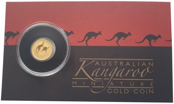 Mini Roo Goldmünze 0,5 gr Gold Känguru 2018 Australien im Blister