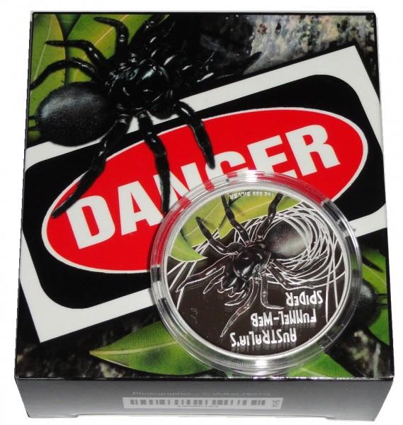 Tuvalu 1 Oz Silber Funnel Web Spider 2012 Polierte Platte
