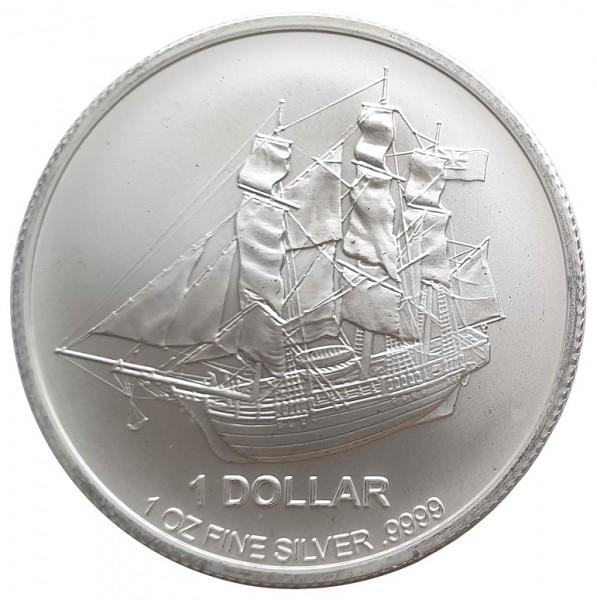 1 Oz Silber Cook Inseln Bounty 2016 Stempelglanz - Anlagemünze