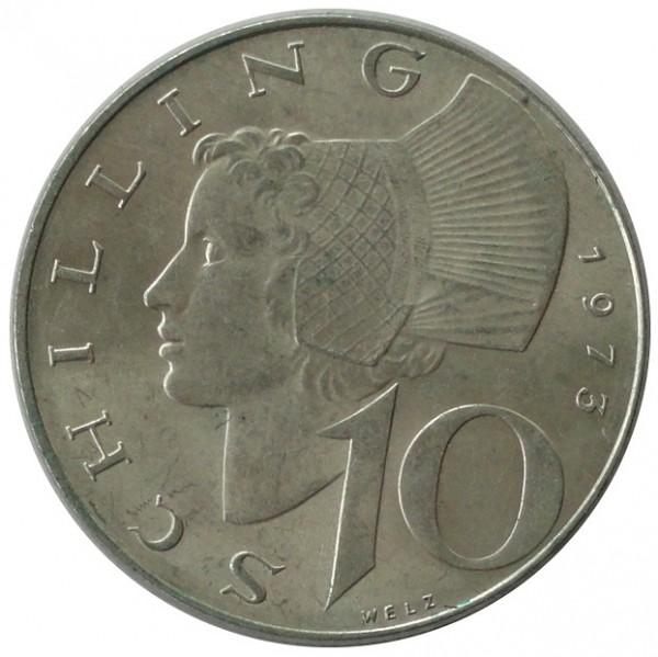 Österreich 10 Schilling Silbermünze Stempelglanz