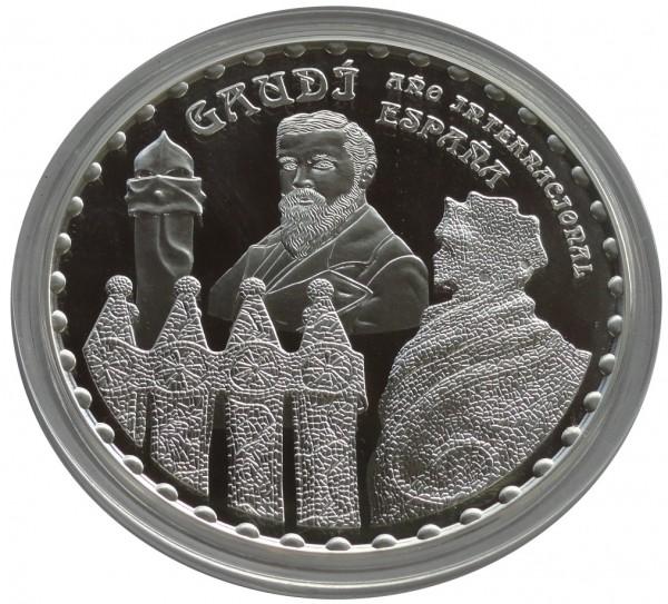 Spanien 50 Euro 5 Oz Silber Antonio Gaudi Sagrada Familia 2002