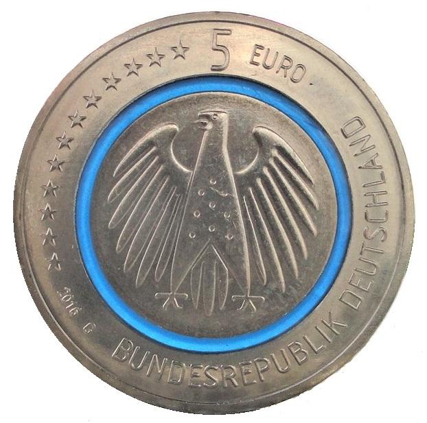 5 Euro Münzrollen Blauer Planet 2016 Online Kaufen Beko Münzen