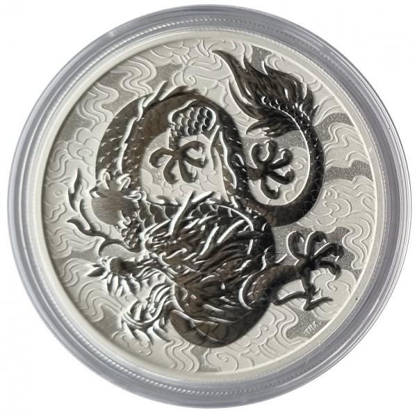 Australien 1 Oz Silber Drache (Chinese Dragon) 2021 Bullionmünze - Anlagemünze