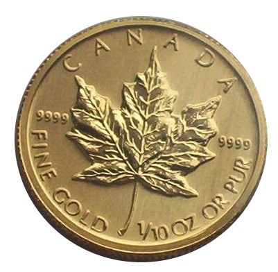 Canada 5 Dollars Goldmünze Maple Leaf 1/10 Oz Gold / verschiedene Jahrgänge