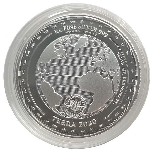 Tokelau 1 Oz Silber Terra - Erde 2020 Stempelglanz in Münzkapsel