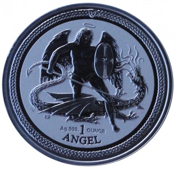 Isle of Man 1 Oz Silber Angel Drachentöter 2016 Reverse Proof