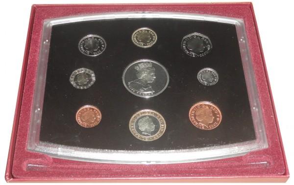 Großbritannien 8,88 £ Kursmünzensatz zum 50. Regierungsjubiläum Elisabeth II 2002 Proof