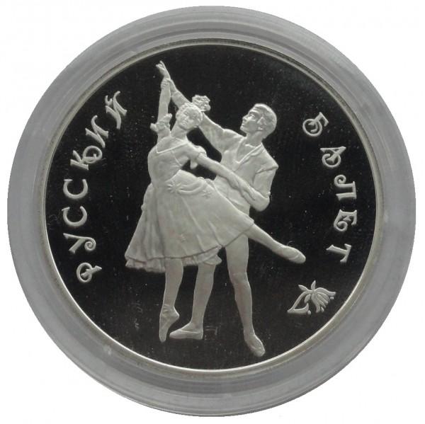 Russland 3 Rubel Silbermünze Ballerina 1993 Polierte Platte