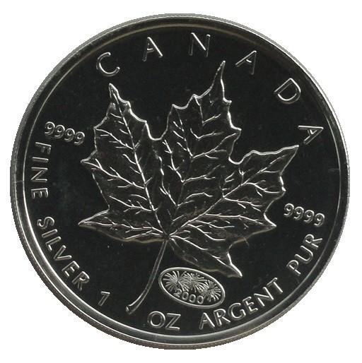 Canada 5 Dollars 1 Oz Silber Maple Leaf Privy Millenium Feuerwerk 2000