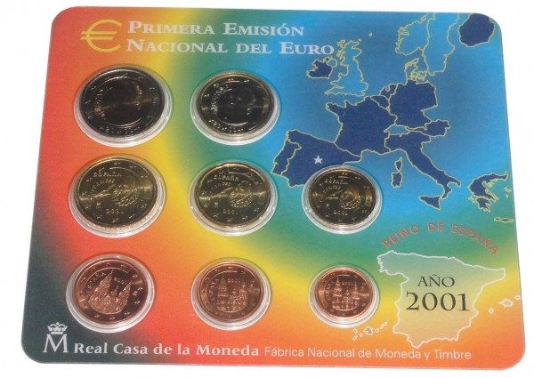 Spanien 3,88 Euro Kursmünzensatz 2003 im Blister