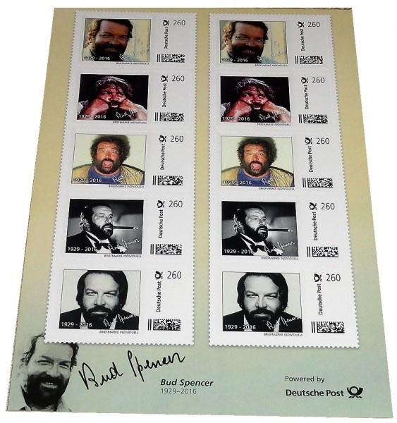Bud Spencer Briefmarken 10 x 2,60 Euro Briefmarkenbogen Limited Edition nur 10.000 Stück !