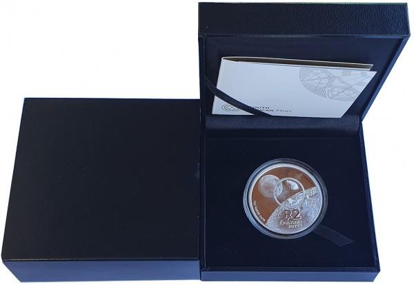 Südafrika 1 Oz Silber 2 Rand 50 Jahre Mondlandung Polymer Putty 2019 PP Polierte Platte