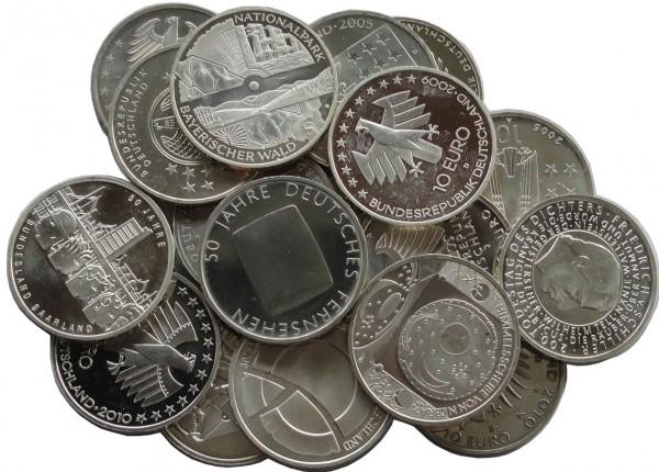 10 Euro Silber Gedenkmünzen Deutschland ( 2002 - 2010 ) 18 gr 925/1000 Silber