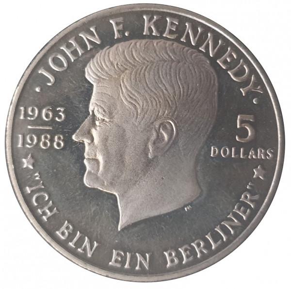Niue 5 Dollars John F. Kennedy 1988 - Ich bin ein Berliner