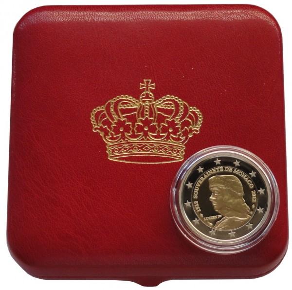 Monaco 2 Euro Gedenkmünze 500 Jahre Unabhängigkeit 2012 Polierte Platte im Etui