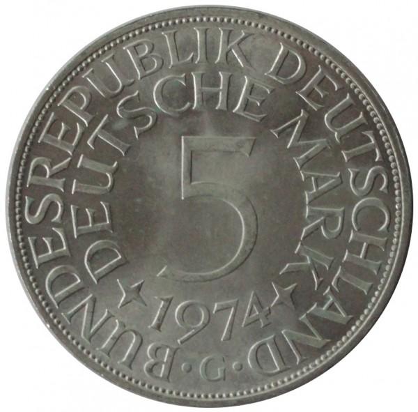 BRD: 5 DM Silber Umlaufmünzen 1951 - 1974